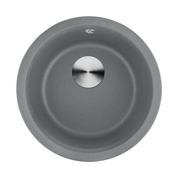 Lottare 700107GR Undermount Round Granite Composite Bar Sink Gray