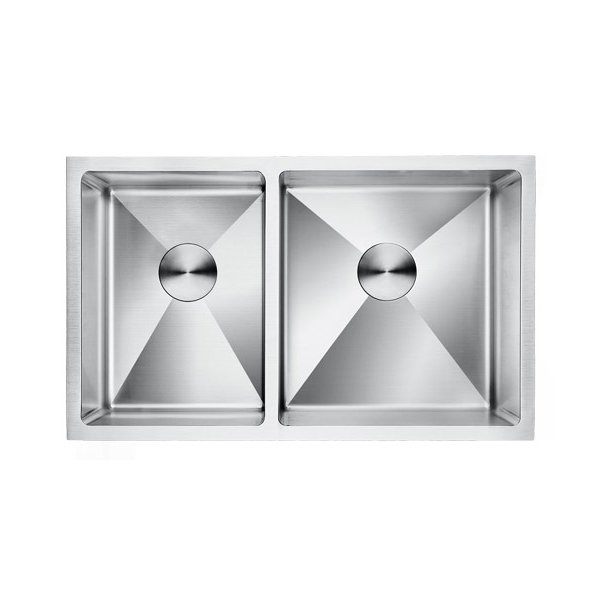 Lottare 200107-R 16G Double Bowl Stainless Steel Kitchen Sink 40/60