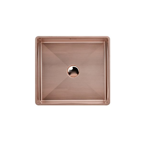 Lottare  200115 Handmade 304 Stainless Steel Bathroom Sink Rose Gold