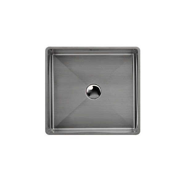 Lottare 200117 Handmade 304 Stainless Steel Bathroom Sink Solid Gray