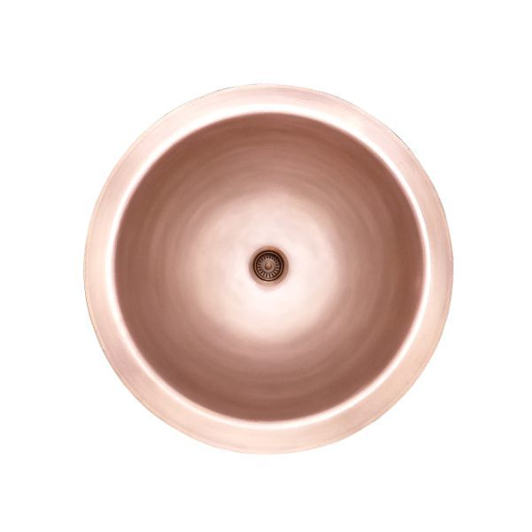 LOTTARE 200127 Single Bowl Solid Copper Bathroom Bar Sink Rose Gold
