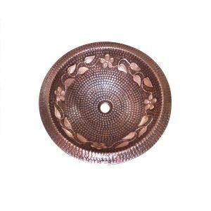 Lottare 200129 Single Bowl Solid Copper Bathroom/Bar Sink CB
