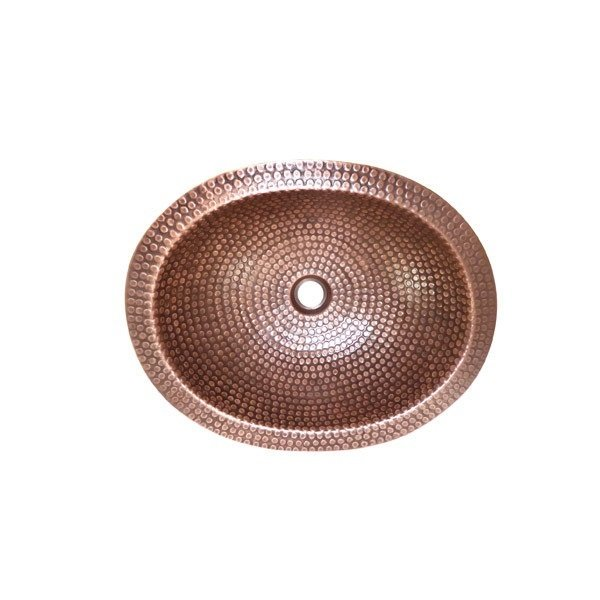 Lottare 200130 Oval Solid Copper Bathroom/Bar Sink Rose Gold