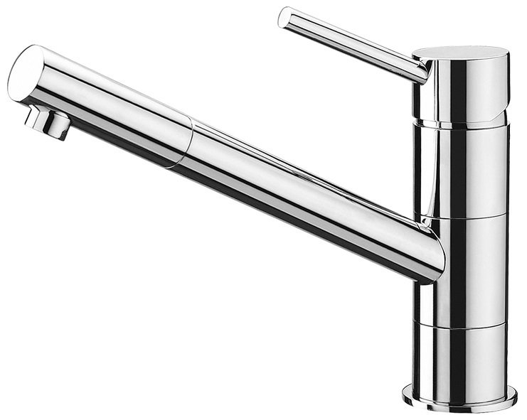 72002C Kitchen Faucet Chrome Pull-Out Swivel Spout with Free Dispenser