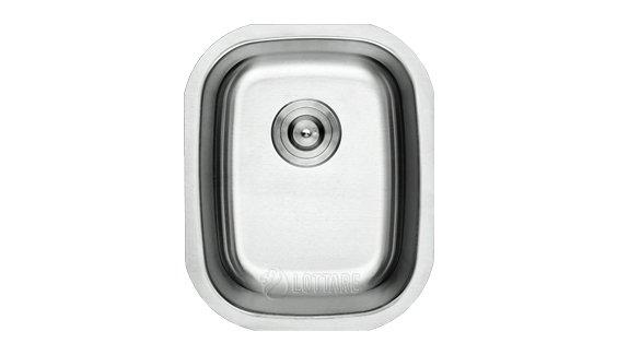 Lottare 800099 B&Bb Undermount Stainless Steel Kitchen Bar Sink