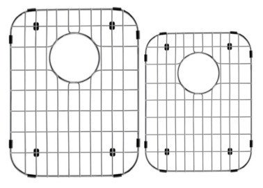 LOTTARE 800105 Stainless Steel Sink Grid Set Double Bowl 60/40 40/60