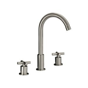 LOTTARE 800130 Two Handle Stainless Steel Bathroom Faucet (Brushed Nickel or Chrome)