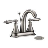 LOTTARE 800131-BN Two Handle Stainless Steel Bathroom Faucet