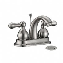 LOTTARE 800132-BN Two Handle Stainless Steel Bathroom Faucet