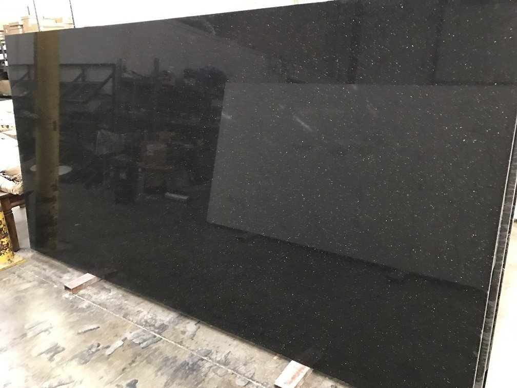 Quartziano Ultimate Countertop Surface Black Galaxy Quartz 551056