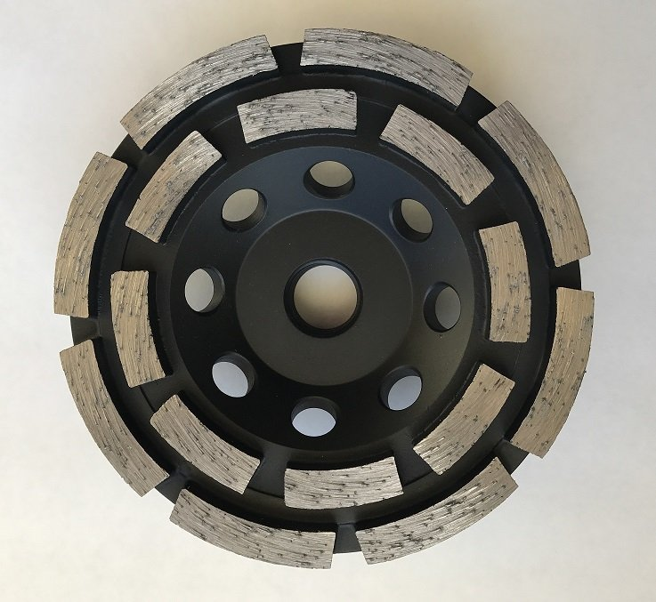 4 Inch Double Row Segment Turbo Cup Wheel  Coarse