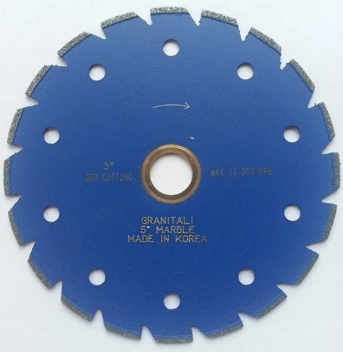 Granitali 5  Inch Marble Cutter/Blade Silent Core