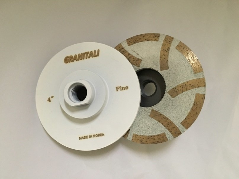 4 Inch RC121Turbo Cup Grinding Wheel - Fine Grade