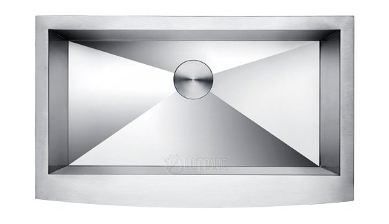 LOTTARE 200132  Stainless Steel Curved Apron Sink