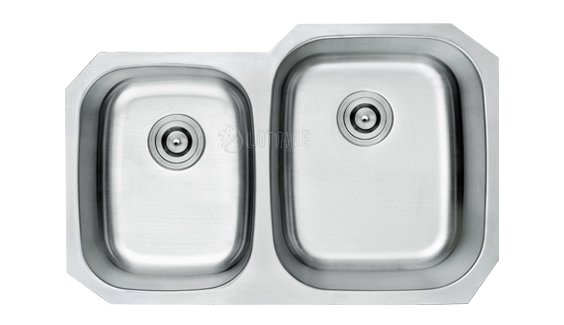 LOTTARE 800106 B&B Double Bowl Stainless Steel Kitchen Sink 40/60