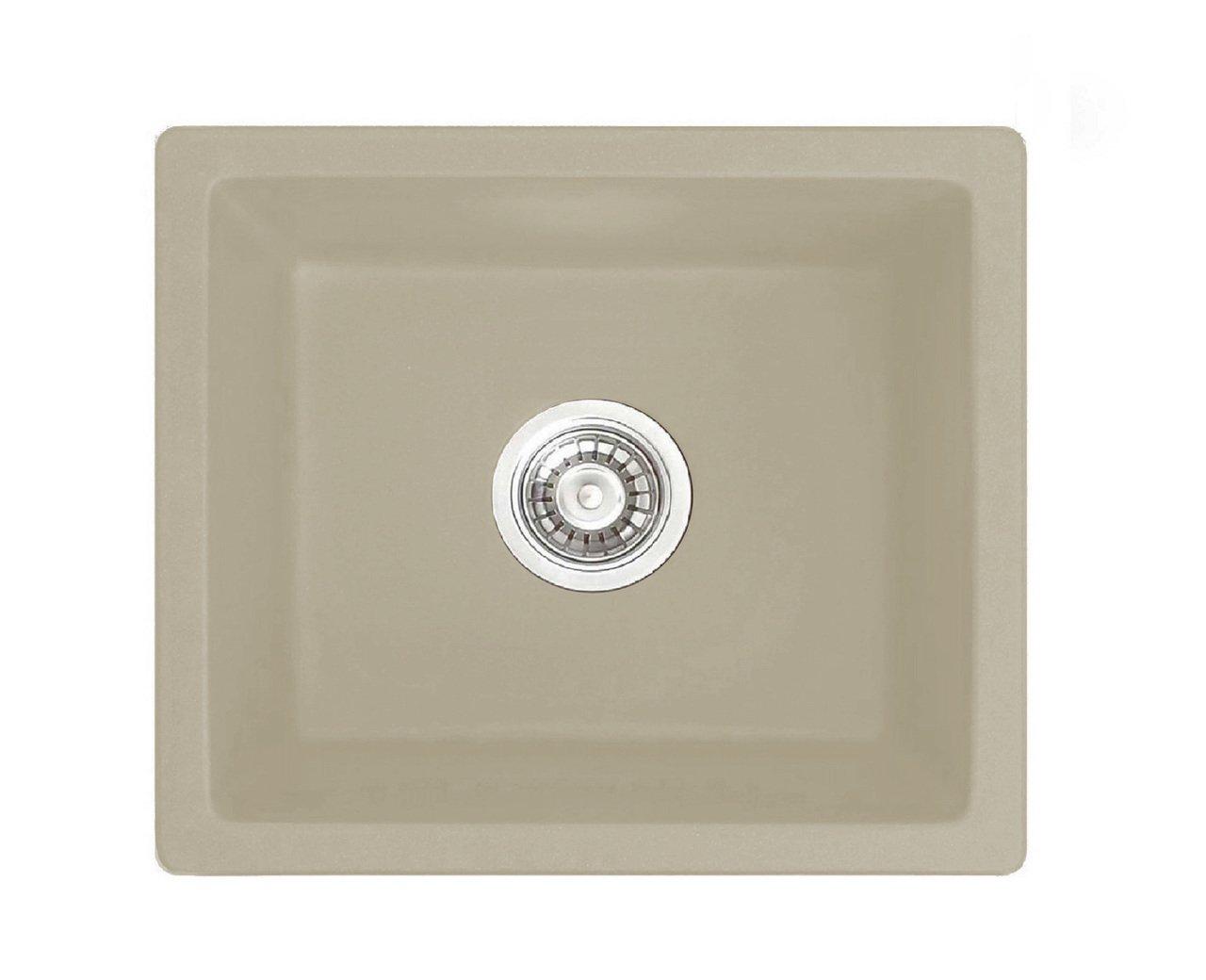 LOTTARE 700103 Undermount Composite Granite Bar Sink Wheat