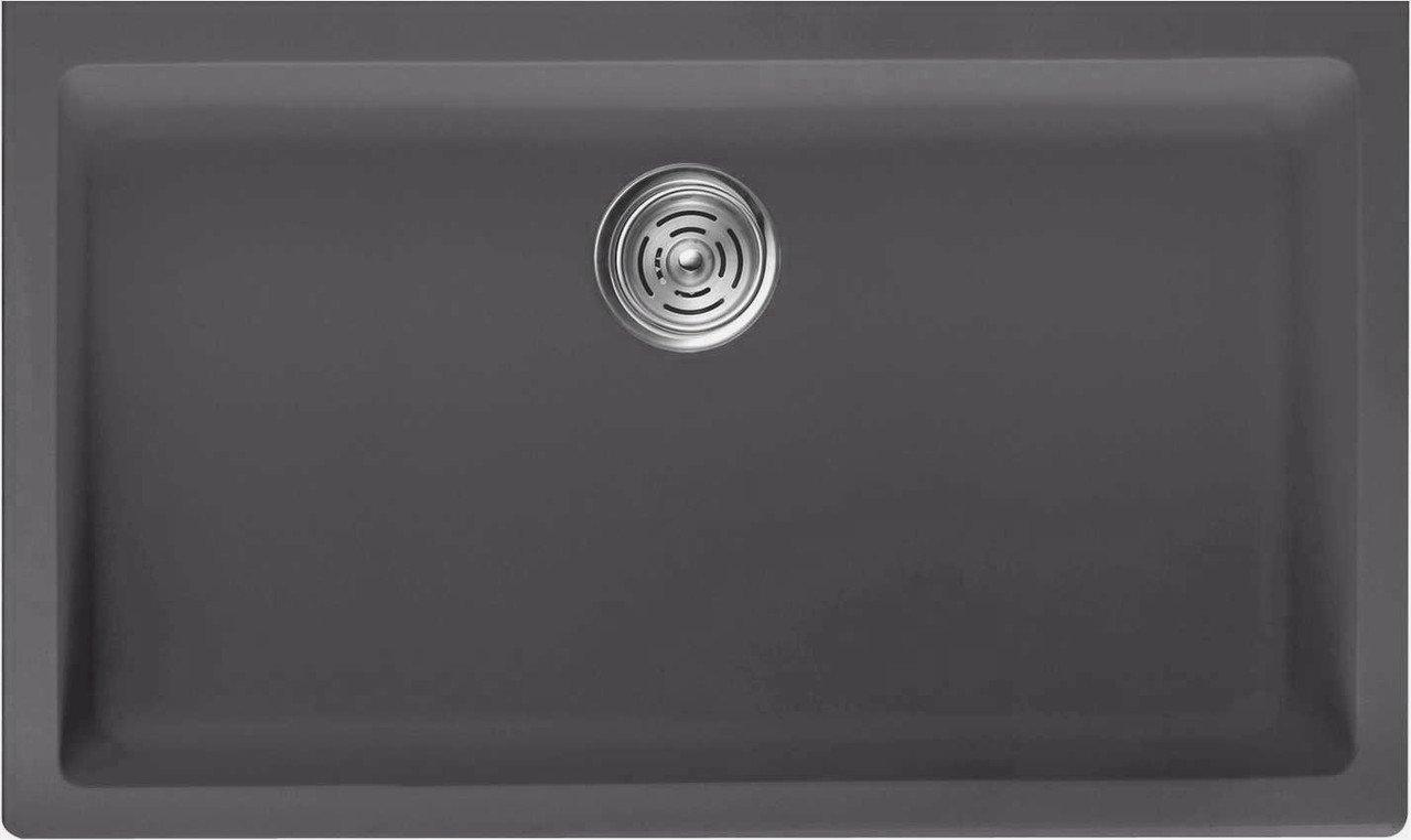 Lottare 700104 Undermount Single Bowl Composite Kitchen Sink Grey