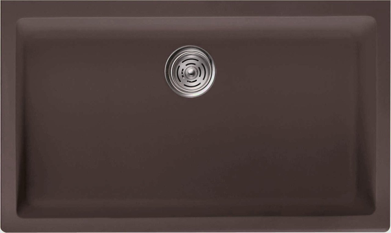 LOTTARE 700104 Undermount Single Bowl Composite Kitchen Sink Brown
