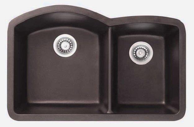 Lottare 700105 Double Bowl Composite Kitchen Sink Brown