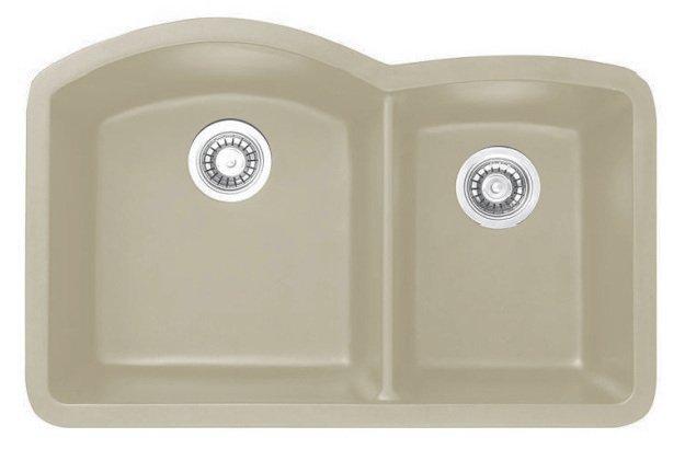 Lottare 700105 Double Bowl Composite Kitchen Sink Wheat