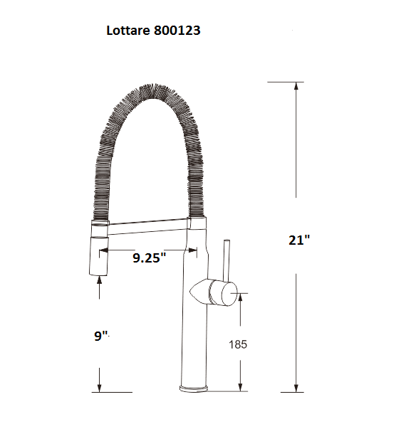 LOTTARE 800123 CH B&B Series Pull Down Kitchen Faucet