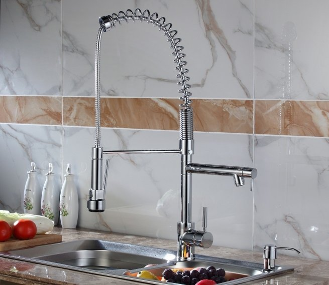 Lottare 900156 CH Pull Down Kitchen Faucet