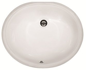Lottare 800111 White Porcelain Bathroom Sink