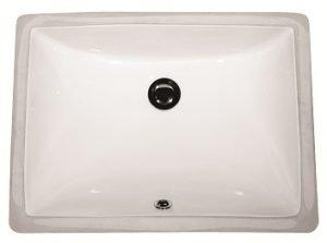 Lottare 800113 Rectangular Porcelain Undermount Bathroom Sink White