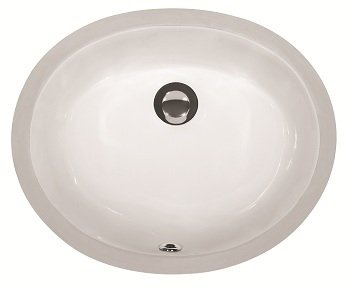 Lottare 800109 White Porcelain Bathroom Sink