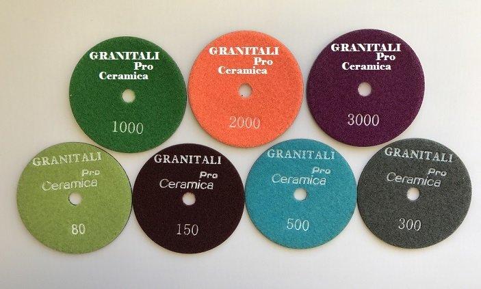 Granitali 4 Inch Pro Ceramica Wet Polishing Pad 2000