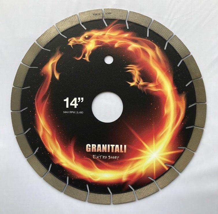 Granitali 14 Inch Genesis Premium Bridge Saw Cutter/Blade Silent Blade