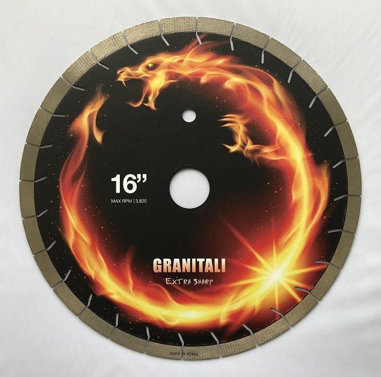 Granitali 16 Inch Genesis Premium Bridge Saw Cutter/Blade Silent Blade