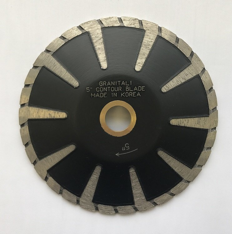 Granitali 5  Inch Contour Turbo Rim Cutter/Blade