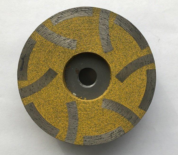 4 Inch 6 teeth inside resin filled cup wheel medium