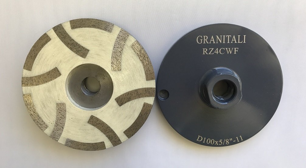 4 Inch 6 teeth inside resin filled cup wheel fine