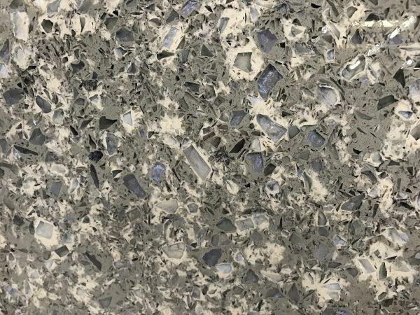 Quartziano Ultimate Countertop Surface Blue Pearl Quartz 551003