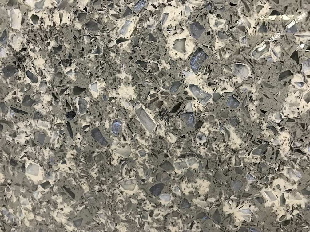 Quartziano Ultimate Countertop Surface Blue Pearl Quartz 551003